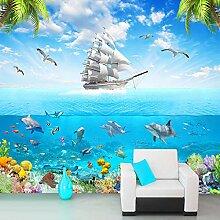 JINFANGBZ Tapete Fototapete 3d Effekt Delfine