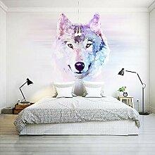 JINFANGBZ Tapete Fototapete 3d Effekt Wolf Totem
