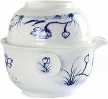 jingde Chinesisches Porzellan Lotus Fisch Gaiwan