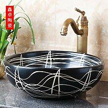 Jingdezhen Art über Theke Waschbecken Line Art
