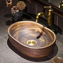 Jingdezhen European Style Retro Holzmaserung