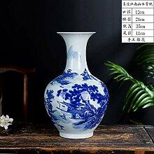 Jingdezhen Keramik blau und weiß Porzellan Vase
