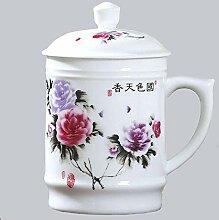 Jingdezhen Teetasse mit Deckel Keramiktasse Große