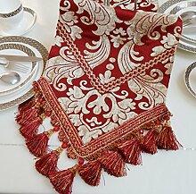 JINGJIE esstisch Red Dekoration Dekoration Tischläufer,Élégant Moderne Tischläufer Tv-schrank Teetisch Flagge-A 30x160cm(12x63inch)