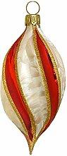 Jingle Bells Lauscha Christbaumkugel gedrehte Form