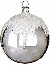 Jingle Bells Lauscha Christbaumkugel Schneedach 6cm
