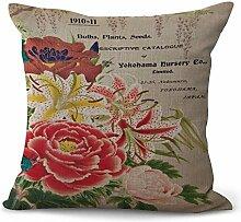 JINGXINSTORE Englische Alphabet Blumen Rosen
