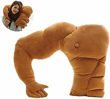 JingYuan Muscle Man Körper Arm Plüsch Baumwolle