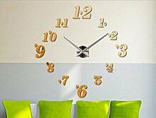 Jingzou DIY Moderne Wanduhr Wandtattoo Dekoration Uhr für Zimmerdeko