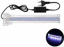 JINHUGU 26CM Kristall LED Aquarium Licht Clip auf