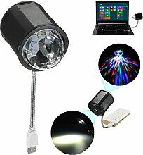 JINHUGU 4W LED Flexibles Kristallstadium RGB USB
