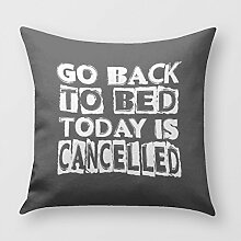 Jinhui Go Back to Bed Pillow Cover for Sofa or