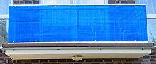 Jinju Blau 0,9 x 7 Meter PE Balkonsichtschutz,
