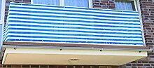 Jinju Blau&Weiß 0,9 x 10 Meter PE