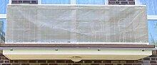 Jinju Grau 0,9 x 7 Meter PE Balkonsichtschutz,