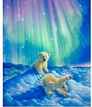 JINLXG 3D Voller Diamant Stickerei Dekoration
