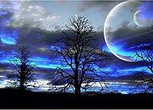 JINLXG 5D DIY Diamant Malerei Landschaft Mond Baum