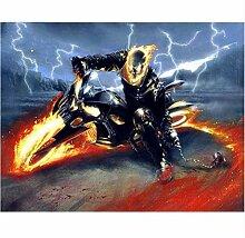 JINLXG 5D DIY Platz Diamant Malerei Ghost Rider