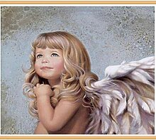 JINLXG Charming Little Angel Girl Farbige Diamant