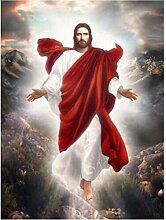 JINLXG DIY Diamant Malerei Jesus Christus Volle