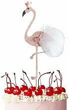 JINMURY 6 Stück Glitzer Flamingo Kuchendeckel
