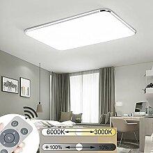 JINPIKER 64W Dimmbar Deckenleuchten Ultraslim LED