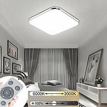 JINPIKER Ultraslim 48W LED Deckenleuchte Dimmbar