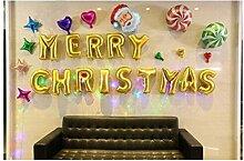 JINQD Home Weihnachtsballon Weihnachtsmann Brief