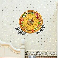 JinRou 3D Uhr Wand Aufkleber Uhr Verzierung Wand-Sticker f¨¹r Kinder Geschenk