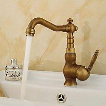 JinRou Einzigartige Pers?nlichkeit Design Europ?ischen antike kreative bleifreien Kupfer Einhand Badezimmer Waschbecken Waschtischarmatur