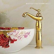 JinRou Einzigartige Pers?nlichkeit Design Kupfer versilbert gold Badezimmer Waschbecken Waschtischarmatur