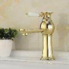 JinRou Einzigartige Pers?nlichkeit Design Vergoldete Messing Bad Waschbecken Waschbecken Wasserhahn