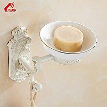 JinRou Einzigartiges Design style Europäische goldene Geröstete weiße Farbe weißes Badezimmer Zubehör Seifenschale