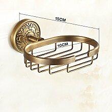 JinRou Einzigartiges Design style Kupfer antik geschnitzte Stil Seifenhalter
