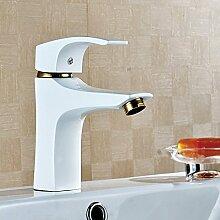 JinRou Fashion Design Style im europäischen Stil Weiß vergoldete Kühlkörper Badezimmer Waschbecken Wasserhahn