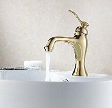 JinRou Fashion Design Style vergoldete Kupfer Waschbecken hot tap