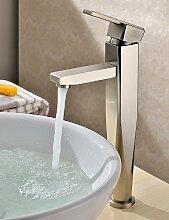 JinRou Luxury home Armaturen Waschbecken Wasserhähne mit eingelassenem Messing vernickel
