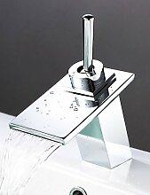 JinRou Luxury home Armaturen Waschbecken Wasserhähne zeitgenössische Wasserfall Chrom
