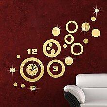 JinRou Modern-europ?isch Crystal Acryl kreative DIY DND Uhr Zimmer Dekoration Ideen Wanduhr , gold