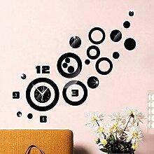 JinRou Modern-europ?isch Crystal Acryl kreative DIY DND Uhr Zimmer Dekoration Ideen Wanduhr , black