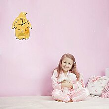 JinRou Modern-europ?isch Gr¨¹n 3D Stereo Mute cartoon Pinguin Spiegel Wand Uhr Uhr stummen Kinder Schlafzimmer Schlafzimmer Wand Zimmer Dekoration Ideen Wanduhr , gold