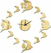 JinRou Modern-europ?isch Sofa Hintergrund Zhong Yanzi Crystal solid Acryl-Wand Spiegel Uhren Wand Uhr Zimmer Dekoration Ideen Wanduhr , gold