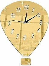 JinRou Modern-europ?isch Wand-Sticker. Stereo Pers?nlichkeit Spiegel dekorative Wand Uhr Uhr stumm Uhr Diy3D Uhr Zimmer Wanddekorationen , gold