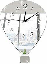 JinRou Modern-europ?isch Wand-Sticker. Stereo Pers?nlichkeit Spiegel dekorative Wand Uhr Uhr stumm Uhr Diy3D Uhr Zimmer Wanddekorationen , silver