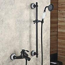 JinRou moderne stilvolle Badezimmer Badezimmer Dusche Wasserhahn Retro schwarz Continental bronze Duschse