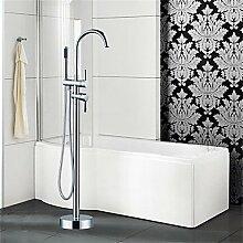 JinRou moderne und stilvolle Mischbatterie Dusche Badewanne Armatur - Art Deco/Retro - Standlautsprecher - Messing (verchromt)