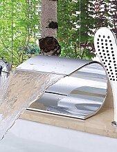 JinRou moderne und stilvolle Mischbatterie Dusche Badewanne Armatur - Zeitgenössische - Wasserfall - Messing (verchromt)