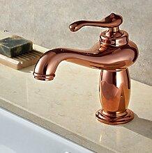 JinRou modernes Badezimmer Waschbecken wasserhahn Alle Kupfer ein Loch mit einem Waschbecken Wasserhahn