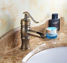 JinRou modernes Badezimmer Waschbecken wasserhahn Antik Kupfer Wasserhahn im Waschbecken im Bad alle kalte und heiße Wasserhähne