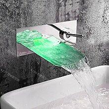 JinRou modernes Badezimmer Waschtisch Armatur Wasserfall Waschbecken Wasserhahn einzigen Griff kalte und heiße Wasserhähne